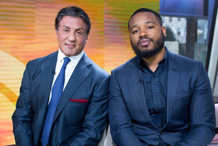 Sylvester Stallone and Ryan Coogler promote the movie Creed