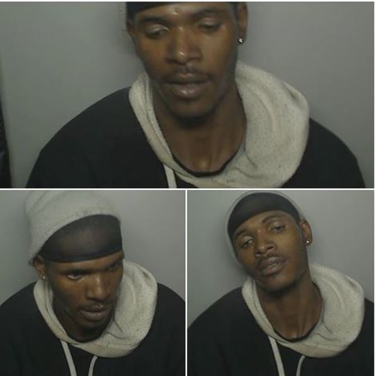 Image: The images were taken by the photo booth during the robbery.