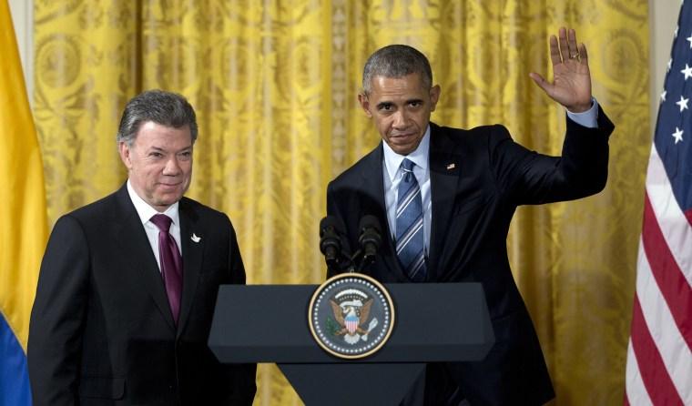 Image: Barack Obama, Juan Manuel Santos