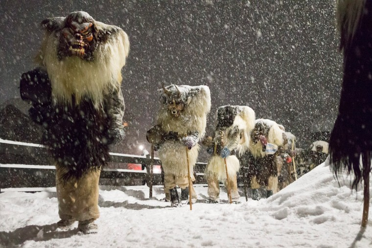 Image: Tschaeggaettae carnival in Switzerland