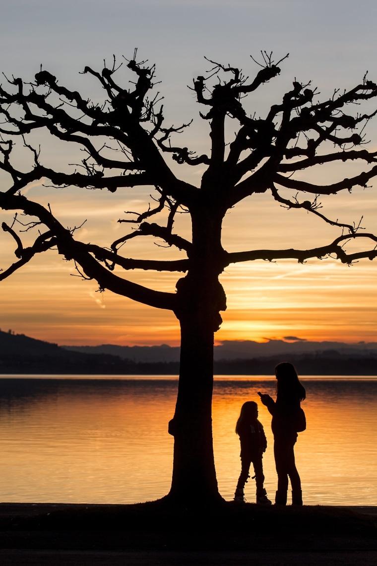Image: Sunset at Lake Zug
