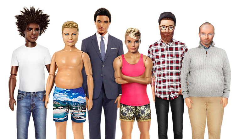 Ken doll gets 'Dad bod,' hipster versions