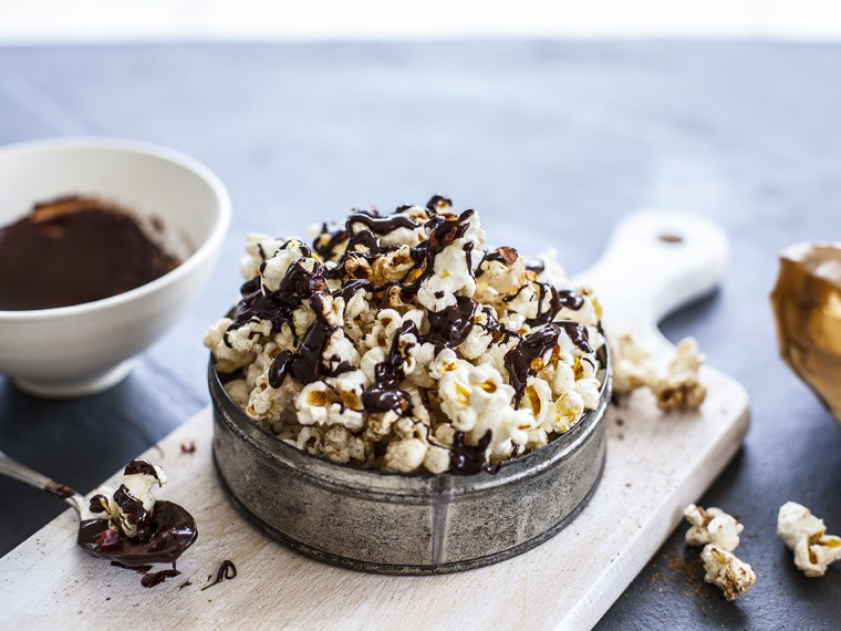 Easy Spiked Chocolate Popcorn