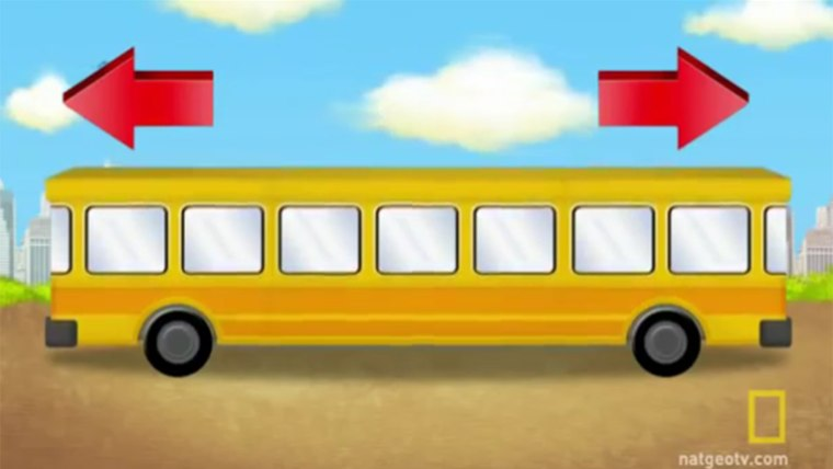 Image: Fun brain teaser asking which way the bus is going