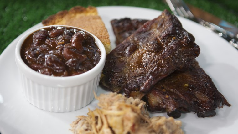 Chef Ed Mitchell makes his special ribs, whole hog and 3-bean baked beans on TODAY.