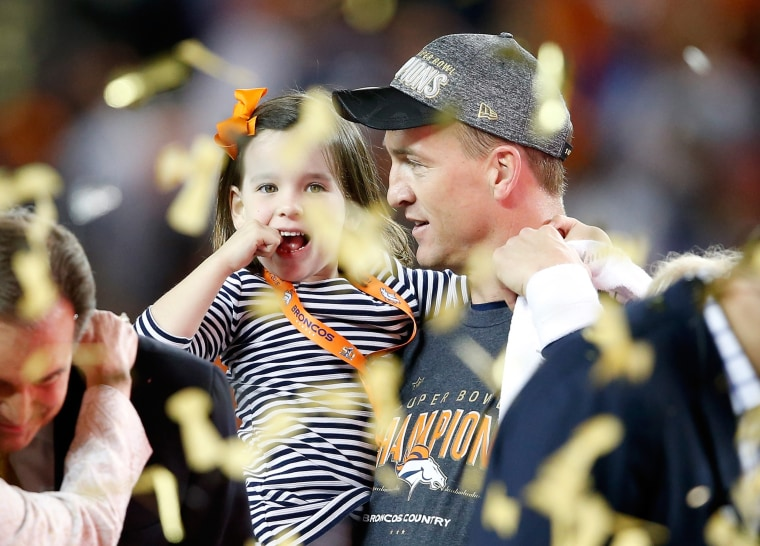 Peyton Manning and daughter