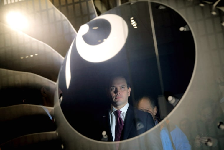 Image: Marco Rubio Campaigns Ahead Of New Hampshire Primary
