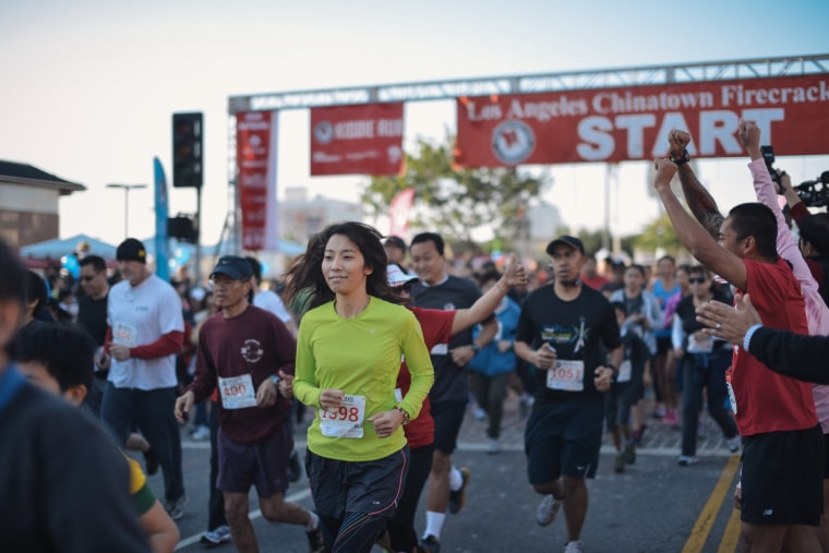 """It's a family event,"" organizers say of the Los Angeles Chinatown Firecracker Run."