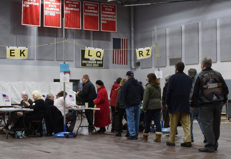 Image: US-VOTE-ELECTION-NEW HAMPSHIRE