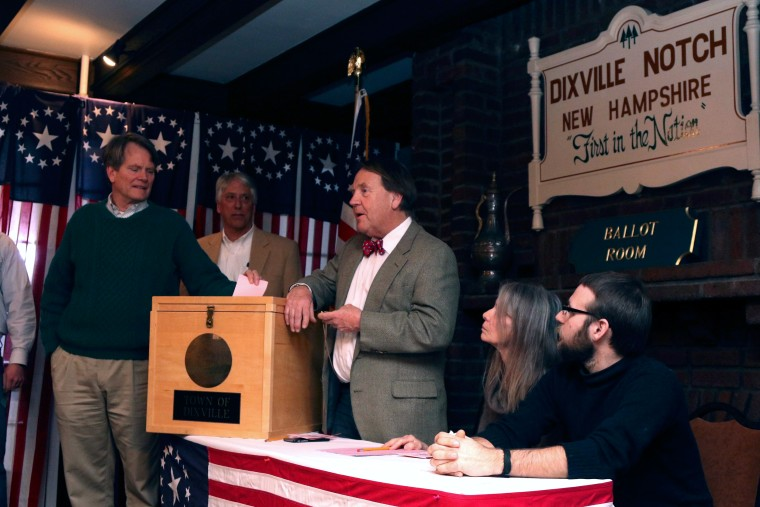 Image: Voters cast first ballots in Dixville Notch, New Hampshire