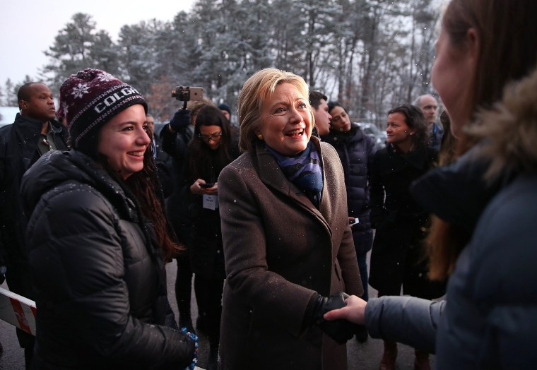 Image: Hillary Clinton Campaigns In New Hampshire Ahead Of Primary