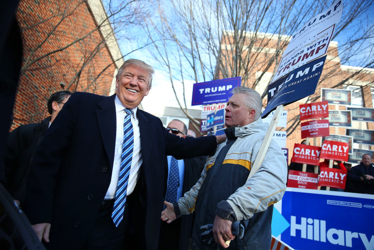 Image: Donald Trump Holds New Hampshire Primary Night Gathering In Manchester
