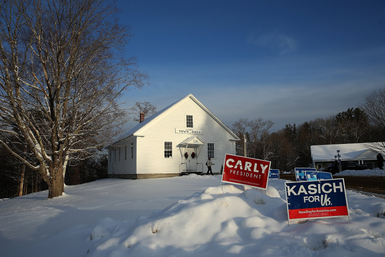 """Image: New Hampshire Voters Head To The Polls For State's """"First In The Nation"""" Primary"""