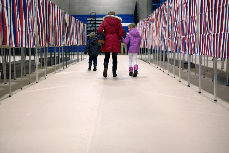 """Image: BESTPIX - New Hampshire Voters Head To The Polls For State's \""""First in the Nation\"""" Primary"""