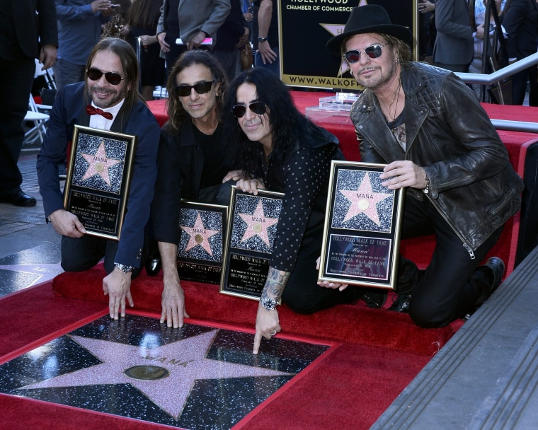 Image: Mexican band Maná receives star on Hollywood Walk of Fame