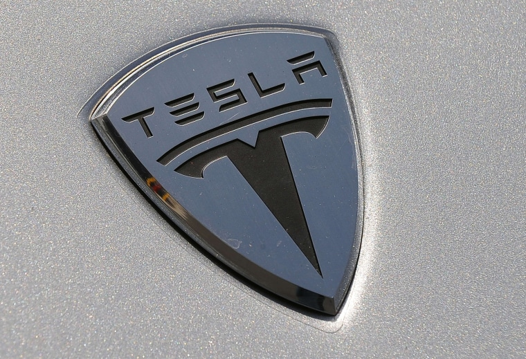 Image: Tesla Logo Close
