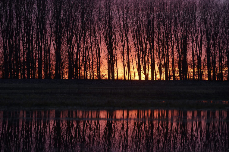 Image: Sunset in the vicinity of Hosszupalyi, Hungary