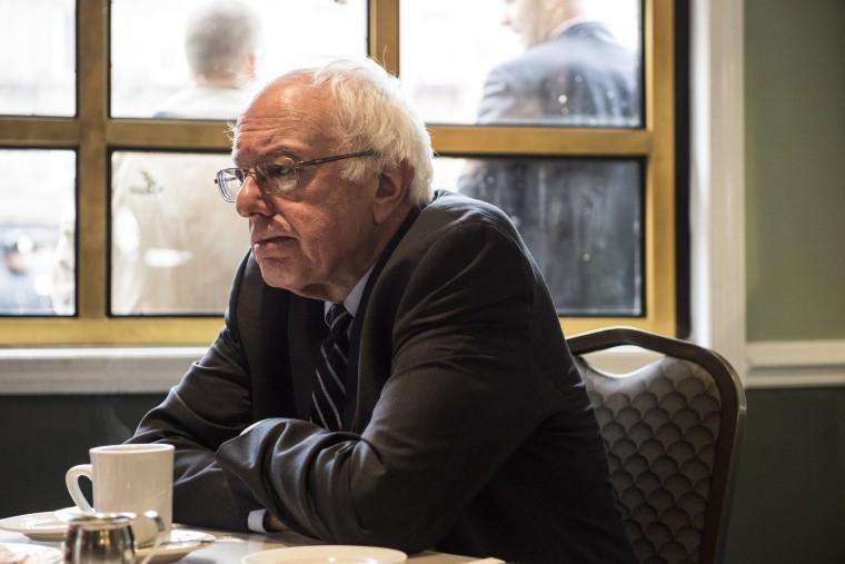 Image: Bernie Sanders Meets With Al Sharpton In New York