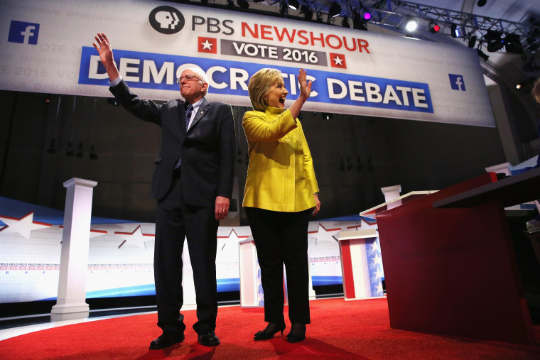 Image: Democratic Presidential Candidates Debate In Milwaukee
