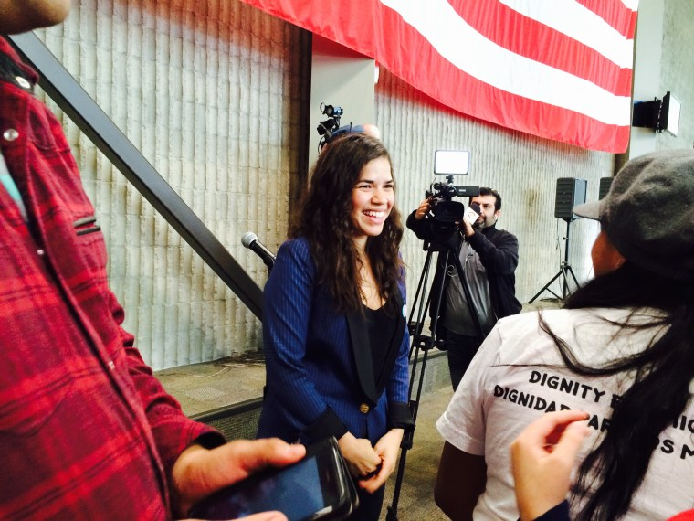 America Ferrera greets students and staff at College of Southern Nevada