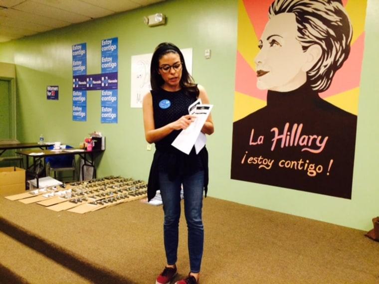 Hillary Clinton organizer Natalie Montelongo