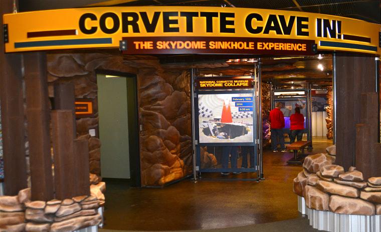Image: CORVETTE CAVE IN EXHIBIT