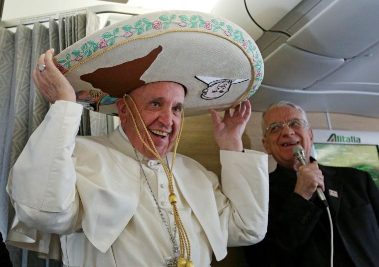Image: Pope Francis Sombrero