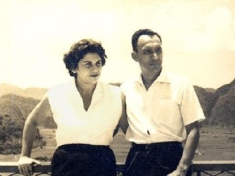 Dr. Ramon and Alicia Oyarzun in Cuba, 1953.