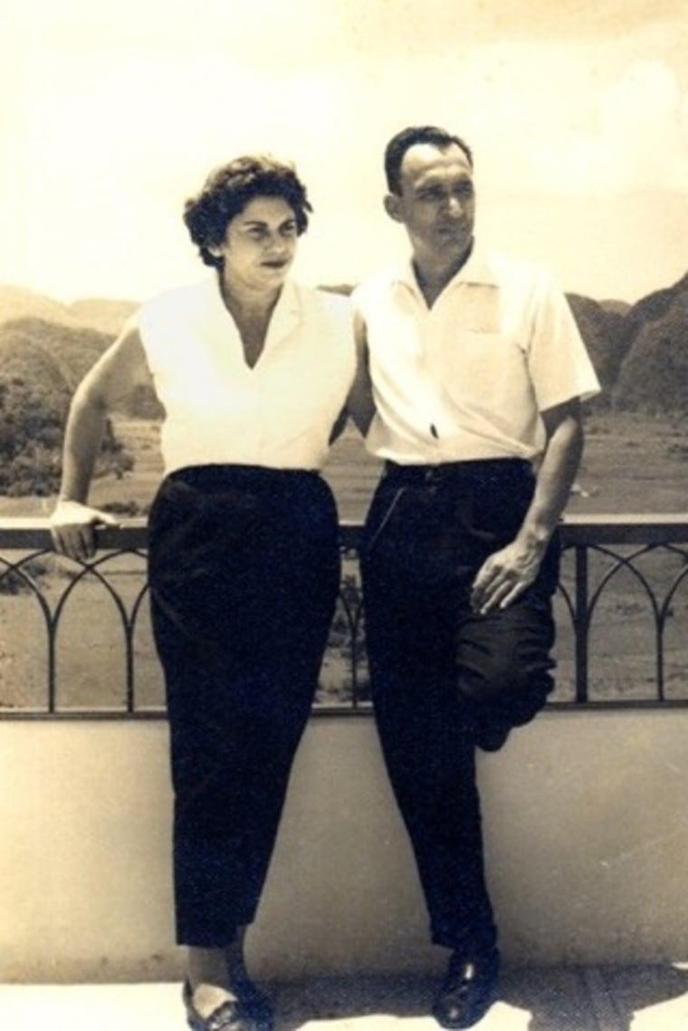 Dr. Ramon and Alicia Oyarzun in Cuba, 1953
