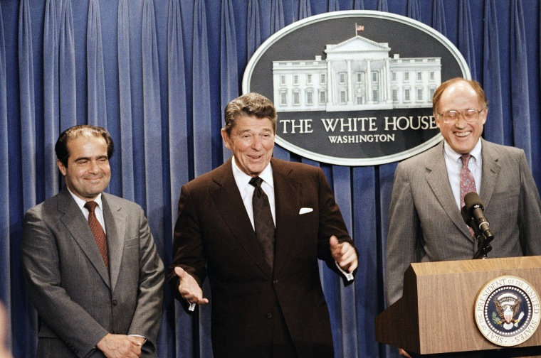 Image: President Ronald Reagan announces the nomination of Antonin Scalia to the Supreme Court