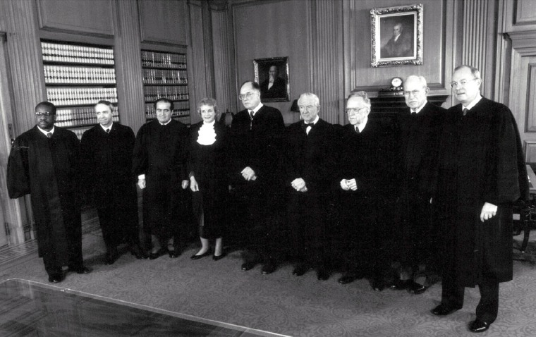 Image: U.S. Supreme Court Justices in November 1991