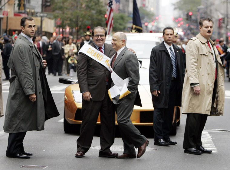 Image: Supreme Court Justice Scalia serves as Grand Marshall of the New York Columbus Day Parade