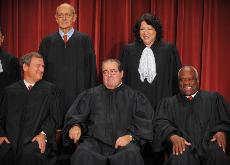 Image: Justices of the U.S. Supreme Court pose for their official photo on Sept. 29, 2009