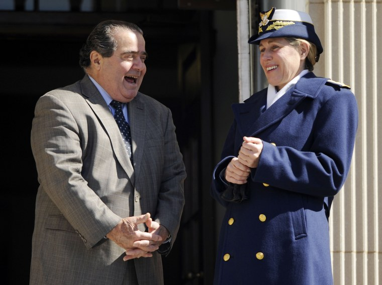 Image: Scalia chats with United States Coast Guard Academy Superintendent