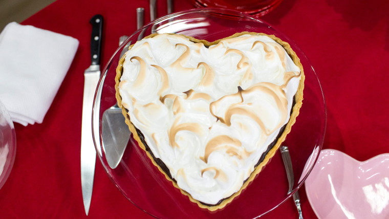 Brandi Milloy's recipe for salted caramel chocolate tart for Valentine's Day