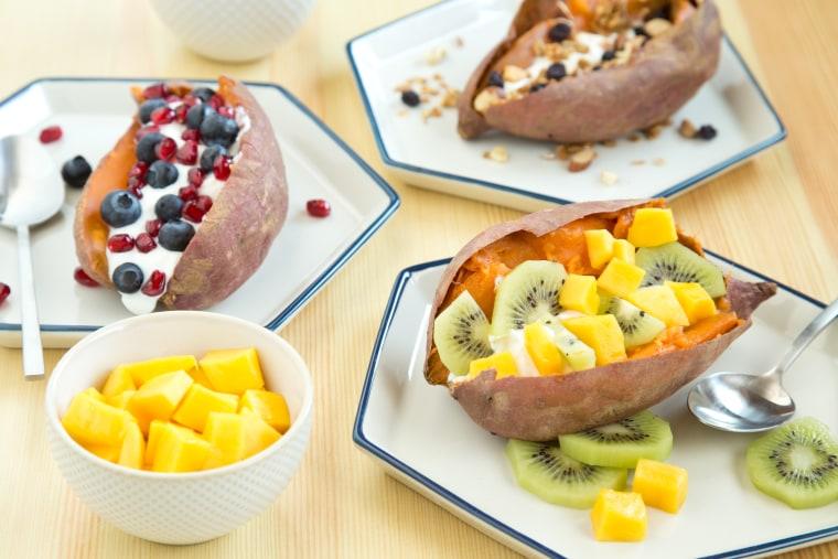 Overnight slow-cooker breakfast sweet potatoes