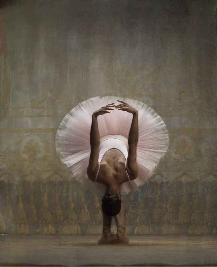 Misty Copeland poses for a portrait in the fashion of a Degas painting.
