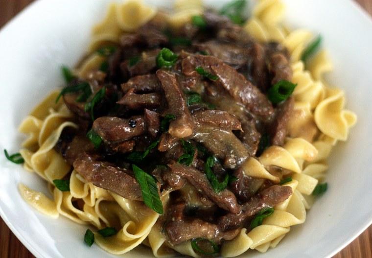 Slow Cooker Beef Stronganoff recipe by TODAY Food Club member Jennifer Locklin of JenniferCooks.com