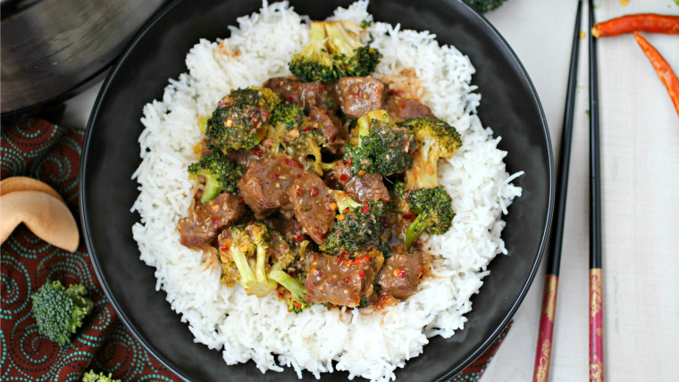 Slow Cooker Asian Beef and Broccoli recipe from TODAY Food Club member Ramona Wheeler from Kitchen Simmer