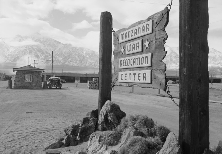 Image: Entrance to Manzanar at the Manzanar Relocation Center in California