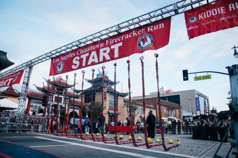 Image: The Los Angeles Chinatown Firecracker Run 2016