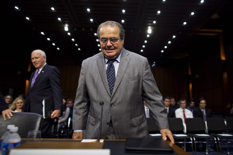 Image: Scalia testifies before a Senate Judiciary Committee