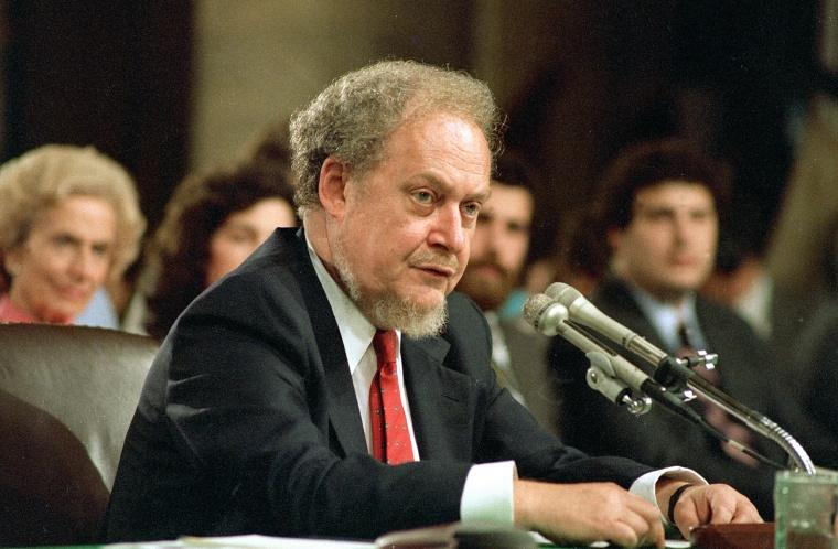 Image: 1987 Robert Bork nomination hearing