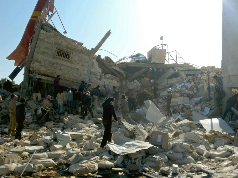 Image: MSF-supported hospital in northern Syria destroyed in attack