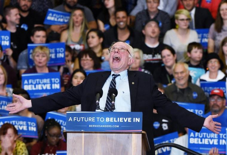 Image: Democratic Presidential Candidate Bernie Sanders