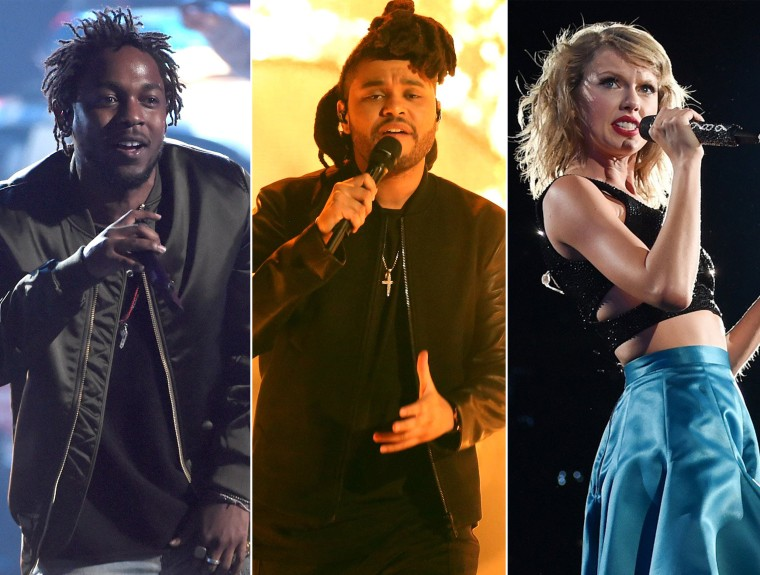 Image: Kendrick Lamar, The Weeknd, Taylor Swift