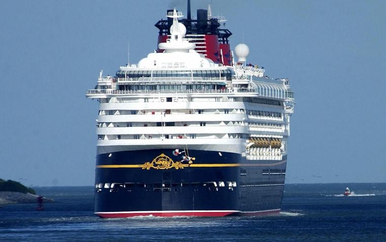 Cruise ships Disney's Wonder (L) and Car
