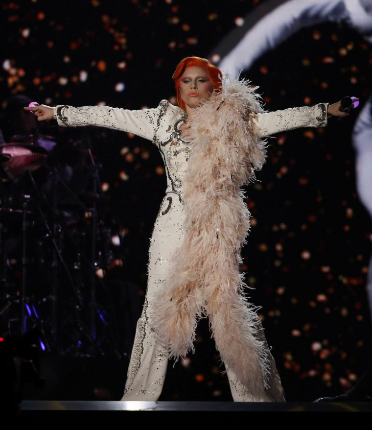 Image: Lady Gaga performs David Bowie songs