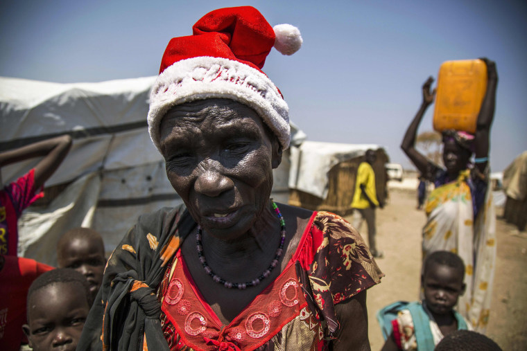 Image: Displaced woman from Bentiu
