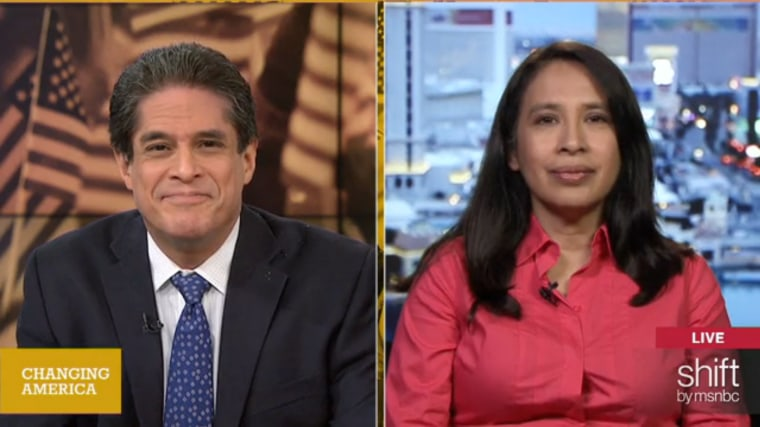 Image: Raul Reyes and Suzanne Gamboa on shift's Changing America.